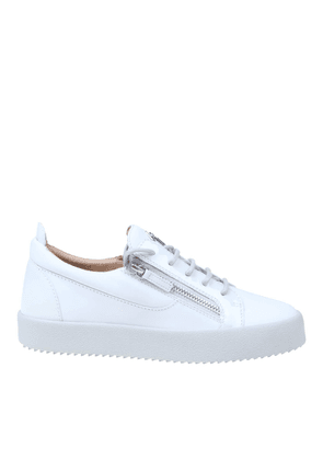 GIUSEPPE ZANOTTI DESIGN MEN'S RM00039004 WHITE LEATHER SNEAKERS