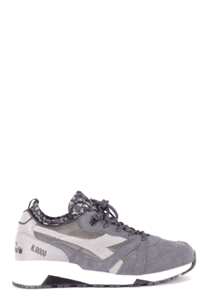 DIADORA MEN'S MCBI35283 GREY SUEDE SNEAKERS