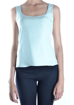 ARMANI COLLEZIONI WOMEN'S MCBI14470 GREEN ACETATE TANK TOP