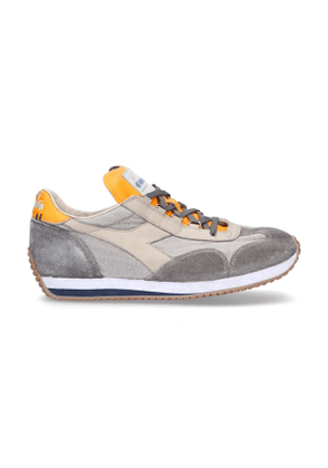 DIADORA MEN'S 20117473675018 GREY SUEDE SNEAKERS