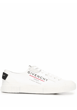 GIVENCHY WOMEN'S BE000PE0PF100 WHITE LEATHER SNEAKERS