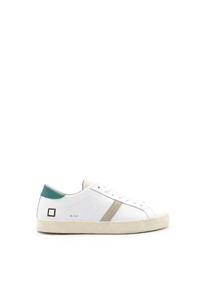 D.A.T.E. MEN'S SNEAKERSHILLOWIN WHITE LEATHER SNEAKERS