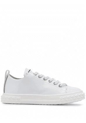 GIUSEPPE ZANOTTI DESIGN WOMEN'S RW00011001 WHITE LEATHER SNEAKERS
