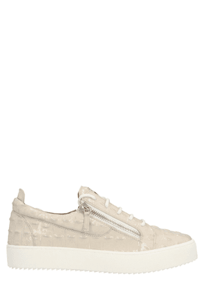 GIUSEPPE ZANOTTI DESIGN MEN'S RU00010042 BEIGE LEATHER SNEAKERS