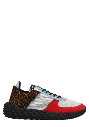 GIUSEPPE ZANOTTI DESIGN MEN'S RU00039001 MULTICOLOR FABRIC SNEAKERS