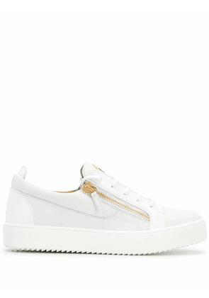 GIUSEPPE ZANOTTI DESIGN MEN'S RU00010004 WHITE LEATHER SNEAKERS