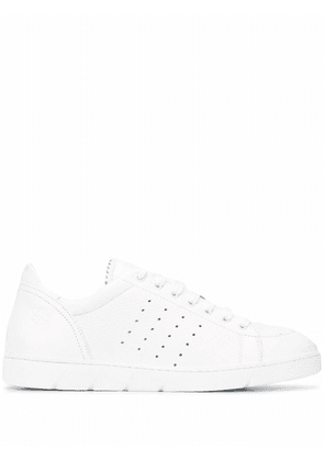LOEWE MEN'S M526282X112100 WHITE LEATHER SNEAKERS