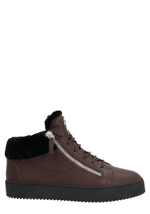 GIUSEPPE ZANOTTI DESIGN MEN'S RU00019002 BROWN SNEAKERS