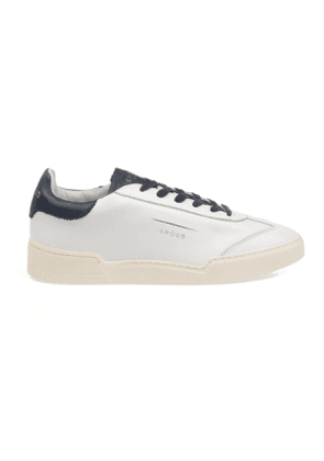 GHOUD MEN'S L1LMLL57LOB01 WHITE LEATHER SNEAKERS