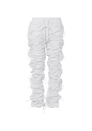 99%IS- - Gobchang Tapered Stretch-Shell Drawstring Trousers - Men - White
