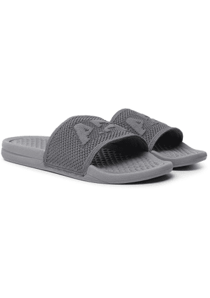 APL Athletic Propulsion Labs - Logo-Embossed TechLoom Slides - Men - Gray