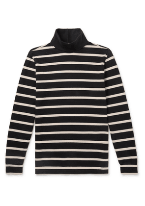 Barena - Striped Cotton Rollneck Sweater - Men - Black