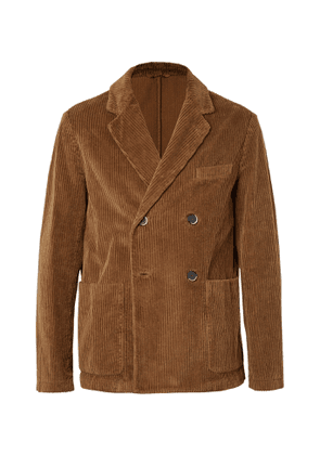 Barena - Double-Breasted Cotton-Corduroy Blazer - Men - Brown