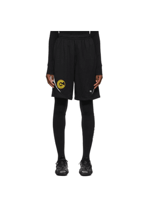 Balenciaga Black Sporty Mesh Shorts