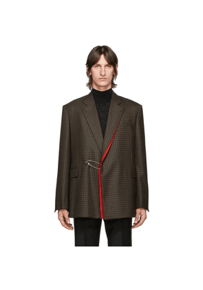 Givenchy Brown Double-Breasted Blazer