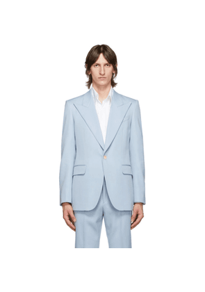 Givenchy Blue Wool Classic Fit Blazer