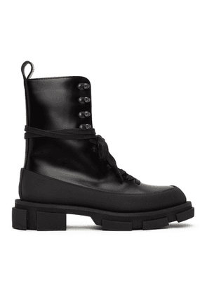 both SSENSE Exclusive Black High Gao Boots