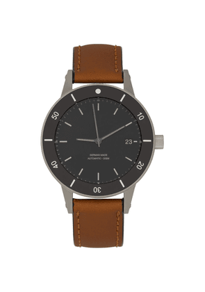 Instrmnt Black and Tan D-Series LT Watch