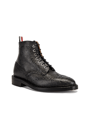 Thom Browne Wingtip Leather Boots in Black - Black. Size 12 (also in 8.5).