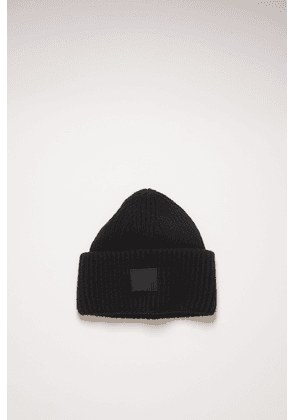 Acne Studios FA-UX-HATS000063 Black Rib knit beanie hat