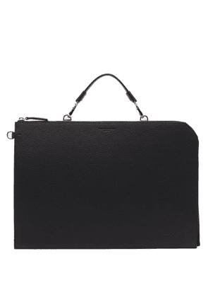 Nosakhari - Standout Grained-leather Document Holder - Mens - Black
