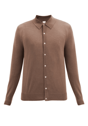 Paul Smith - Point-collar Merino-wool Cardigan - Mens - Brown