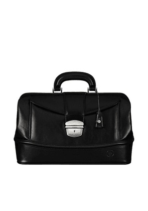 Maxwell Scott Bags Finest Italian Black Leather Traditional Doctors Bag