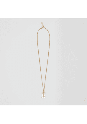 Burberry Gold and Palladium-plated Monogram Motif Necklace, Light Gold