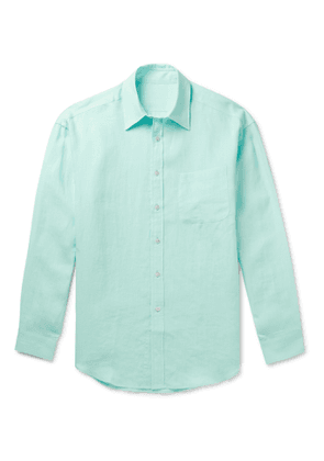 Anderson & Sheppard - Linen Shirt - Men - Green