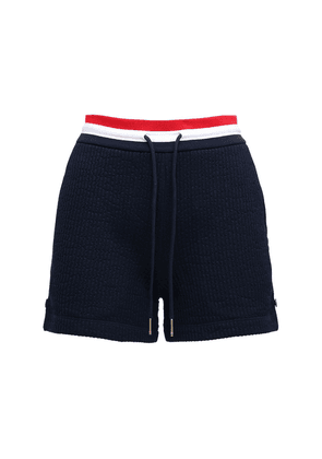 Cotton Sweat Shorts W/ Stripes