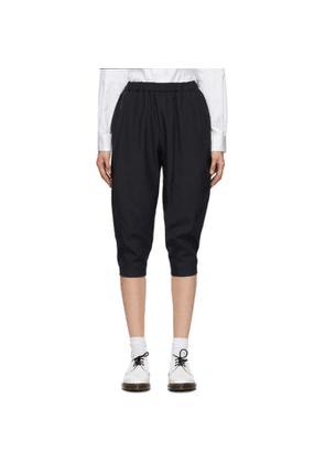 Comme des Garcons Comme des Garcons Navy Oxford Pull-On Trousers