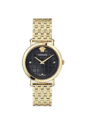 VERSACE Medusa Chain 37mm Watch in Yellow Gold - Metallic. Size all.