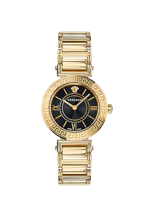 VERSACE Tribute 35mm Watch in Yellow Gold - Black,Metallic. Size all.