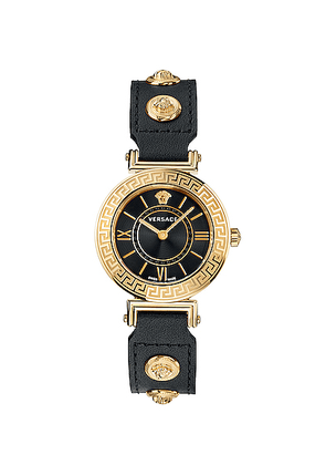 VERSACE Tribute 35mm Watch in Yellow Gold & Black - Black,Metallic. Size all.
