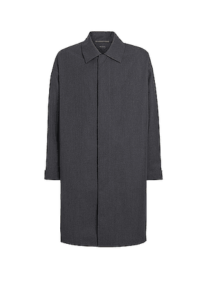 Fear of God Exclusively for Ermenegildo Zegna Trench Coat in Anthracite - Gray. Size 50 (also in 46,48,52).