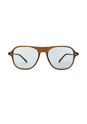 Oliver Peoples Nilos Sunglasses in Espresso & Seamist - Brown. Size all.