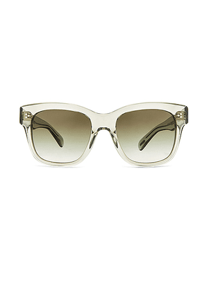 Oliver Peoples Mellery Sunglasses in Washed Sage & Olive Gradient - Green. Size all.