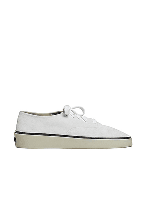 Fear of God Exclusively for Ermenegildo Zegna Suede Leather Laced Sneaker in Off White - White. Size 7 (also in 8,9,11).