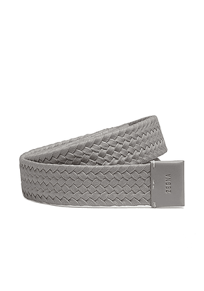 Fear of God Exclusively for Ermenegildo Zegna Smooth Calfskin Braided Leather Belt in Grey - Gray. Size all.