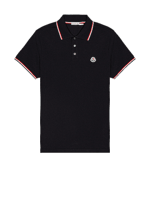 Moncler Short Sleeve Polo in Navy - Blue. Size S (also in ).