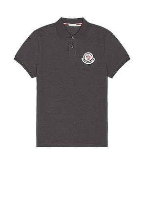 Moncler Short Sleeve Polo in Light Charcoal - Gray. Size S (also in L,M,XL).