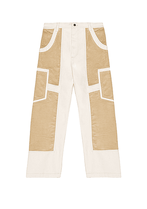JACQUEMUS Bellu Pants in Off White - White. Size 46 (also in 48,50).