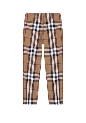 Burberry Check Trousers in Birch Brown Check - Brown,Plaid. Size 46 (also in 48,50,52).