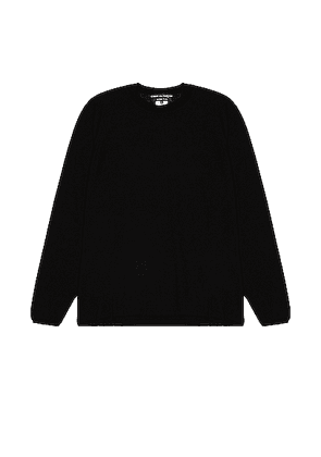 Comme Des Garcons Homme Plus Long Sleeve Sweater in Black - Black. Size M (also in S,L).
