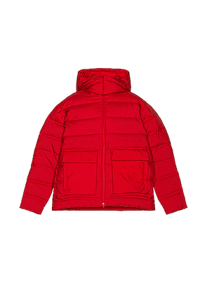Y-3 Yohji Yamamoto Puffy Down Jacket in Scarlet - Red. Size S (also in L,M,XL).