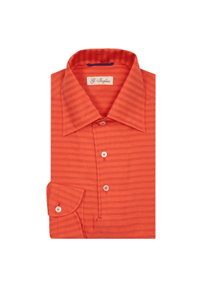 Scarlet Red Mastroianni Striped Polo Shirt