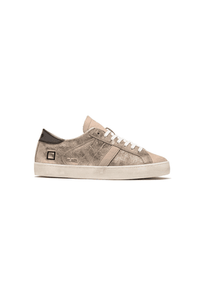 Hill Low Leather Trainers - Stardust Platinum