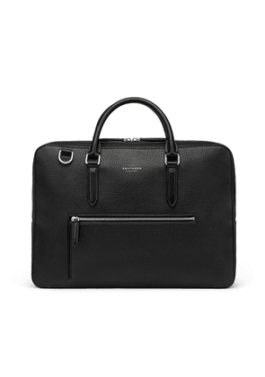 Smythson Ludlow Briefcase with Zip Front