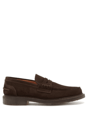 Cheaney - Dorking Suede Penny Loafers - Mens - Brown
