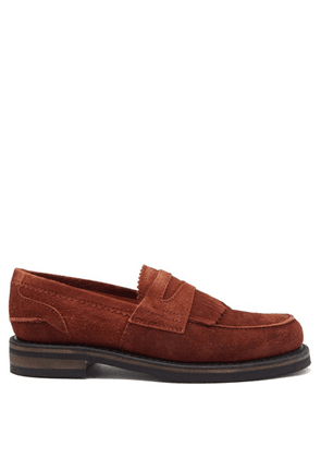 Our Legacy - Stacked-sole Suede Penny Loafers - Mens - Brown